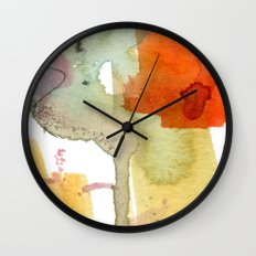 watercolour floral abstract Wall Clock