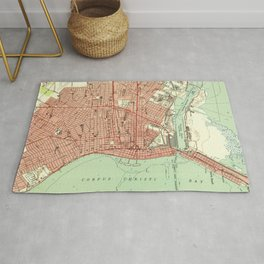 Vintage Map of Corpus Christi Texas (1951) Rug