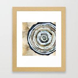 Wood Slice Abstract Framed Art Print