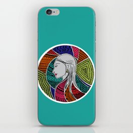 Geometric Girl iPhone Skin