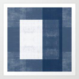 Case Study No. 37 | Navy + White Art Print