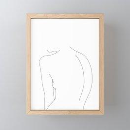 Minimal line drawing of women's body - Alex Framed Mini Art Print