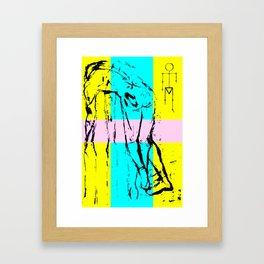 Character Framed Art Print