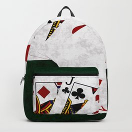 Poker Hand One Pair Jack Eight Nine Two Backpack