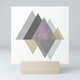 To the Mountains I Must Go, Abstract Geometric Art Mini Art Print