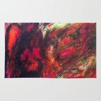 blanket Area & Throw Rugs featuring Harsh Blanket by Brandon Richard Feris