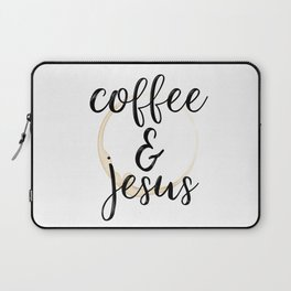 Coffee and Jesus Laptop Sleeve