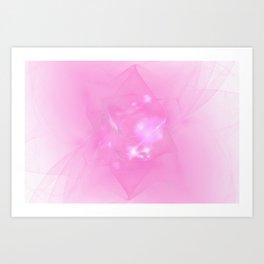 Folds In Pink Art Print