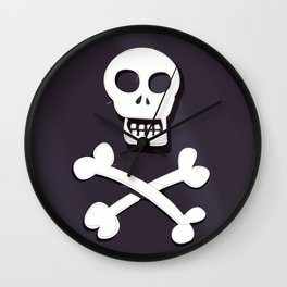 Pirate Skull and crossbones flag Wall Clock