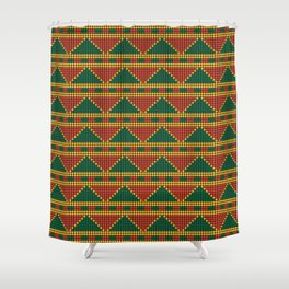 Africa-inspired pattern Shower Curtain