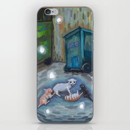 Back alley shenanigans iPhone Skin