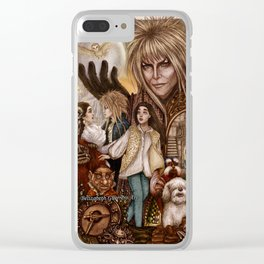 Labyrinth Tribute Clear iPhone Case
