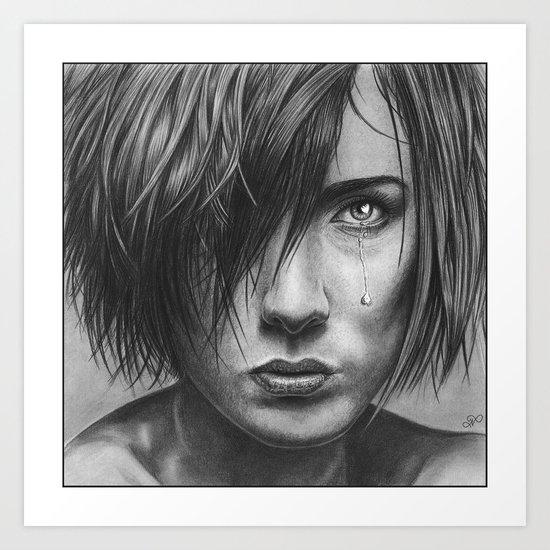 Love hurts pencil drawing art print by pencilart society6