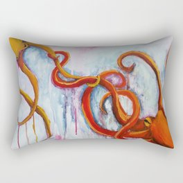 A connection in time octopus Rectangular Pillow