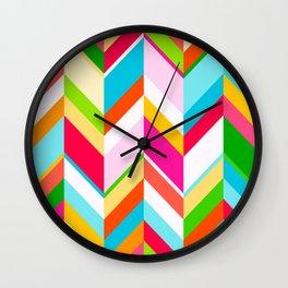Rainbow Chevrons Wall Clock