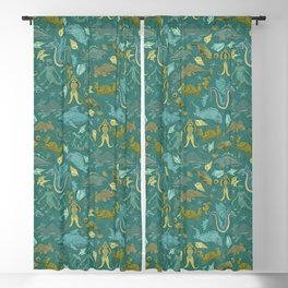 Deepsea Cryptids in Sea Green Blackout Curtain