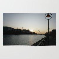 dublin Area & Throw Rugs featuring Dublin Dawn by John Morris
