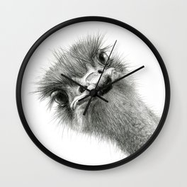 Cute Ostrich Expression SK055 Wall Clock