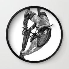 Greyscale bendy wendy Wall Clock