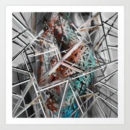 Broken pieces Art Print