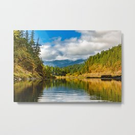 Peacful morning on the Rogue RIver Metal Print