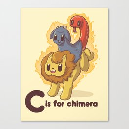 C is for Chimera Canvas Print