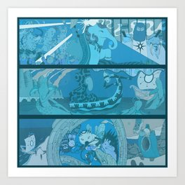 Azul Liner Art Print