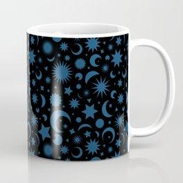 Celestial Kilim in Black + Teal Coffee Mug