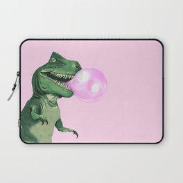 Bubble gum T-Rex in Pink Laptop Sleeve