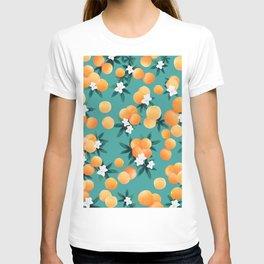 Orange Twist Flower Vibes #8 #tropical #fruit #decor #art #society6 T-shirt