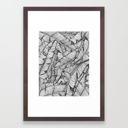 Black & White Jungle #society6 #decor #buyart Framed Art Print