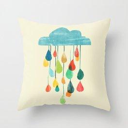 cloudy with a chance of rainbow Deko-Kissen