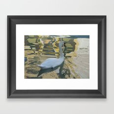 Reflections on a Burano canal Framed Art Print