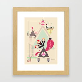 Icecream Volcano Framed Art Print