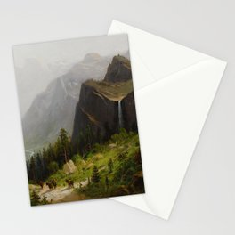 Yosemite Valley, California from the artist's poit Stationery Cards