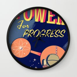 Power For Progress 1955 atomic power print. Wall Clock