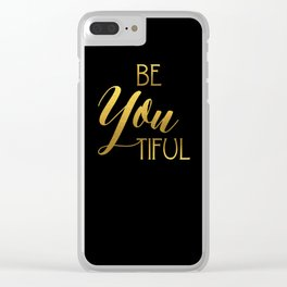 BeYoutiful Gold Foil Clear iPhone Case