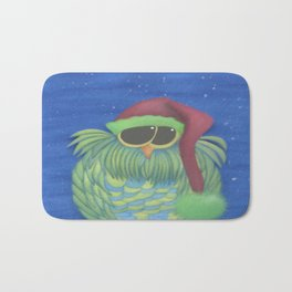 Ernesto the Secret Santa Owl Bath Mat