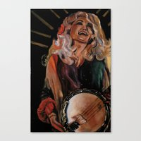 dolly parton Canvas Prints featuring The Ecstasy of Dolly Parton 2 by Caitlin Harper