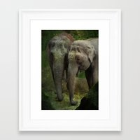 elephants Framed Art Prints featuring Elephants  by Guna Andersone & Mario Raats - G&M Studi