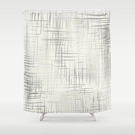 Crosshatch Silver Shower Curtain