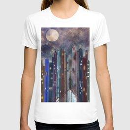 City Nights #Street Art #Multi-Media T-shirt