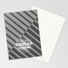 I hate being bipolar it's awesome. Stationery Cards