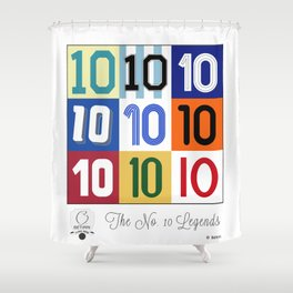 The No. 10 Legends Shower Curtain