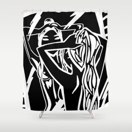 Look inverse Shower Curtain