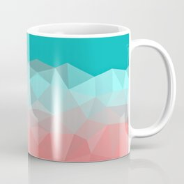 Crystal fantasy background mint and coral color Coffee Mug
