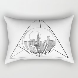 GRAPHIC Geometric. Shape Gray New York in a Bottle Rectangular Pillow