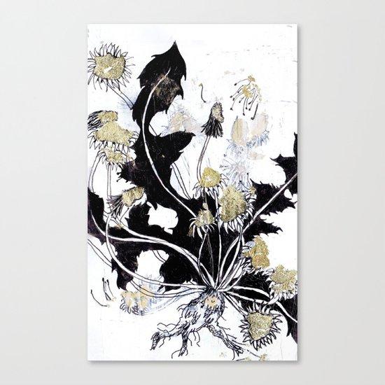 Gold Dandelions Canvas Print