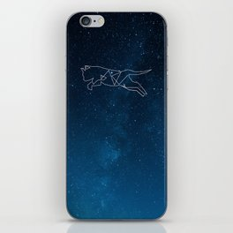 Cat Midnight Sky Constellation Dark Blue Space Starts Astronomy iPhone Skin