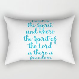 Where the spirit of the Lord is there is Freedom Rectangular Pillow